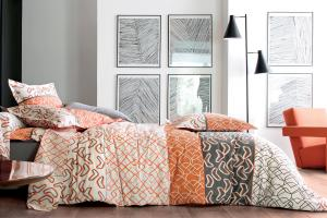 HOUSSE DE COUETTE VARIATIONS ORANGE